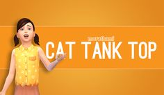 The Sims 4 | MoraThami EP02 Get Together Cat Tank Top Separated | CAS clothing top female child everyday Sims 4 Children, 4 Kids, Children Clothing, Sims Four, Sims 4 Mm Cc, Sims 4 Cas, My Sims, Sims 4 Characters, Sims 4 Toddler