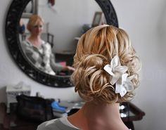 Carissa's hair on her wedding day!