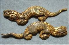 MENUKI Gold Monitor Lizard Katana Japanese Samurai Sword Edo era Antique F/S EMS