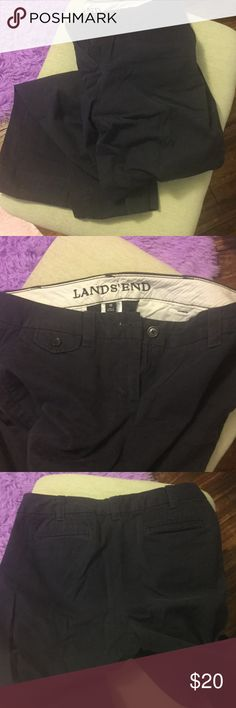 Women's navy blue khakis Women's size 10 navy blue Lands End khakis. Brand new condition. Lands' End Pants