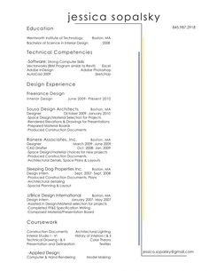 resume interior designer - Google Search