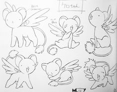 time waits for no one — Sakura Card Captors - Animated Artworks (Special. Cardcaptor Sakura, Kero Sakura, Sakura Card Captor, Good Night Cat, Black And White Art Drawing, Anime Lineart, Dark Art Drawings, Poses References, Anime Tattoos