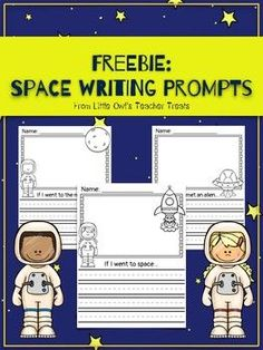 This freebie includes 4 space-themed writing prompts:    1. If I went to the moon... (boy and girl options)  2. If I went to space... (boy and girl options)   3. Blank writing page with astronaut pictures (boy and girl options)   4. If I met an alien...