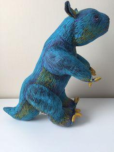 applause determined products dinosaur blue megatherium ground sloth plush 1992 applause