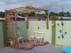 Resultado de imagen para como fazer um pergolado de bambu
