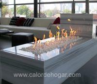 chimenea LOFT Basic empotrada en base de marmol, Loft en Polanco #chimeneas #calordehogar