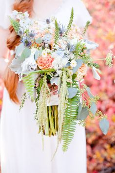 bouquet Photography by darcybenincosa.com Floral Design by galleriafloralut.com  Read more - http://www.stylemepretty.com/2013/02/19/scottish-wedding-inspired-shoot-from-darcy-benincosa-photography/