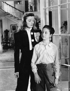 Style Essentials--Katharine Hepburn + Adrian Align for 1940's THE PHILADELPHIA STORY | GlamAmor