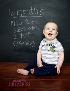 Chalked Up- monthly photo ideas