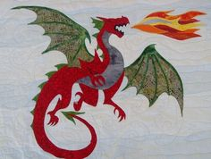 Dastardly Dragon Appliqué Pattern, she has a quilt made from this that is spectacular!