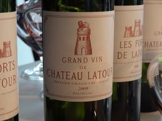 Château Latour 2009, Pauillac, 1st Growth, / Bordeaux, France. Chateau Latour is one of the 10 best fine wines in the world. Tasted by the 20 most famous critics of the world, the 2009 vintage reaches an average score of 98,78, the best score obtained by this estate.