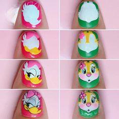 Anime Nails, Animal Nail Art, Disney Nails, Nail Tutorials, Disney Outfits, Nails On Fleek, Nail Art Designs, Fashion Beauty, Finger