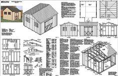 249 Best Storage Shed Plans Images On Pinterest Backyard Sheds
