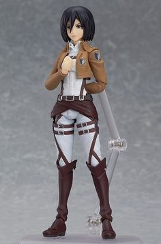 Attack on Titan Figure: Mikasa Ackerman Figma (5 in) #RightStuf2013