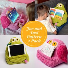 Want to crochet a useful project for your children or grandkids that they'll actually use? This pattern is perfect! It's just the right size to hold a book open or to rest a tablet on, and it's supercute! You can crochet an owl or a frog right now, but there are more variations on this pattern coming soon. This would make a perfect Christmas gift or just gifts for children any old time! (affiliate link)