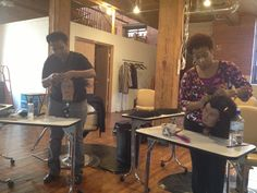 Online Students Vonita & Nikki first day at their Natural Hair Boot Camp