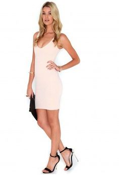 17f3998cf8 Demetra Ribbed Bodycon Mini Dress In Nude Ladies UK Size 14 Box21 52 F. Dresses  DressesMini DressesMissguidedDress ...
