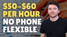 $50-$60/Hour Work-From-Home Jobs No Phone Flexible Hours 2021 Work From Home Careers, Video Notes, Flexibility, It Works, Phone, Telephone, Back Walkover, Nailed It, Mobile Phones