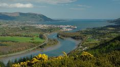 View from Flagstaff Point overlooking Carlingford Lough, Warrenpoint and Rostrevor