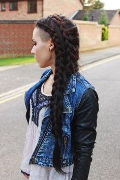 new hair goal...long mohawk