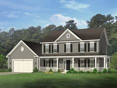 ePlans Country House Plan – Country Style Home With Wrap-Around Porch – 2148 Square Feet and 4 Bedrooms from ePlans – House Plan Code HWEPL77522