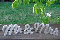"6"" Unfinished wooden mr & mrs mr and mrsWedding Gift, Bridal Shower Gift, Engagement Gift. Mr and Mrs Wedding Sign on Etsy, $27.00"