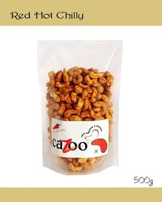 Flavoured Cashew Nuts, Dry Fruits, Cazootree, Red Chilly Cashew Nuts