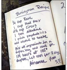 Burning Man 2006 - Burning Man Recipe - Photo by Scott London Love this, though they forgot the art, the main reason I go!