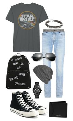 """""""Star Wars"""" by laineyroxs ❤ liked on Polyvore featuring Maison Margiela, Converse, StingHD, FOSSIL, Michael Kors, Outdoor Research, men's fashion and menswear"""