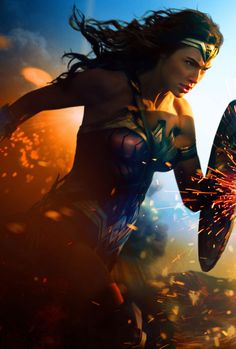 Title:Wonder Woman Stars: Gal Gadot, Chris Pine, Robin Wright Rating: (for sequences of violence and action, and som. Logo Wonder Woman, Wonder Woman Film, Gal Gadot Wonder Woman, Wonder Women, Wonder Woman Birthday, Birthday Woman, Man Of Steel, Miracle Woman, Super Heroine