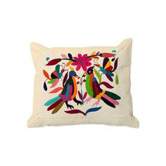 bohemian bedding birds in love pillow cover by mexicanhandwoven