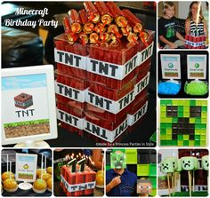 {Real Party} Minecraft Birthday Party | Made by a Princess Parties in Style