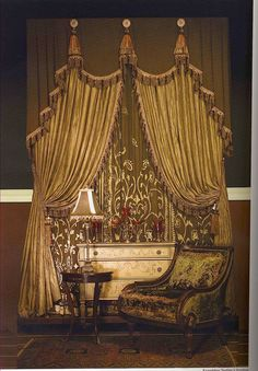 vintage clip art fancy victorian curtains draperies. Black Bedroom Furniture Sets. Home Design Ideas