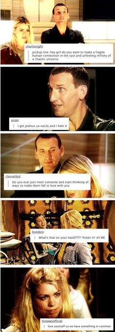 Rose and the Doctor's relationship explained via popular text posts. Gah, they're just so adorable!!