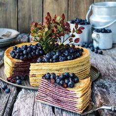 Kjempegod pannekake kake med blåbær