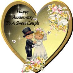 Brighten happy anniversary to a sweet couple