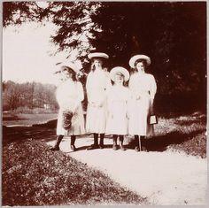Maria Nikolaevna, Olga Nikolaevna, Anastasia Nikolaevna and Tatiana Nikolaevna Romanova.  The last Grand Duchesses of Russia