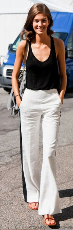 beautiful black and white elegance. love this pants