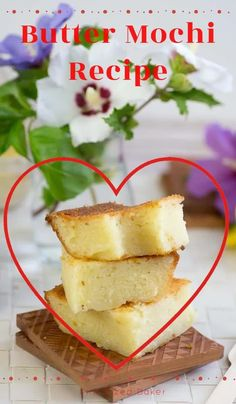 An easy and delicious Butter Mochi Recipe I learn to make while growing up in Hawaii. Every kid in Hawaii knows how delicious this gooey snack is! It's naturally gluten free and tastes amazing! #buttermochi #mochirecipe Best Dessert Recipes, Fun Desserts, Butter Mochi, Mochi Recipe, Romantic Desserts, Valentines Sweets, Best Butter, Retro Recipes, Food Videos