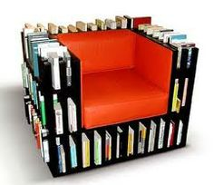 Photo via: Uploaded by user You may also be interested in 🙂These bookshelves and comfy chair create a peaceful space for reading.This library chair. Creative Bookshelves, Bookshelf Design, Cheap Bookshelves, Bookshelf Ideas, Sofa Design, Furniture Design, Book Furniture, Library Furniture, Metal Furniture