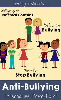 Anti-Bullying Interactive PowerPoint. Teaches students the difference between bullying and normal conflict, the different roles students play in bullying, and what they can do to prevent it. ($)