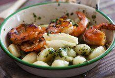 Five-minute prawn gnocchi