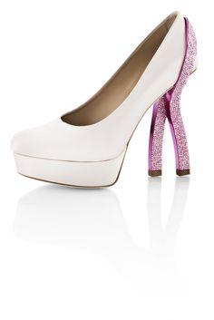 GIULIANA   Pink Silk Satin Upper and Platform wrapped in a Swarovski Crystal encrusted Ribbon Heel     www.whoisschee.com  https://twitter.com/WhoIsSchee  https://www.facebook.com/whoisschee