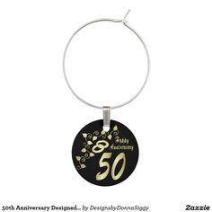 50th Anniversary Designed Wine Charm