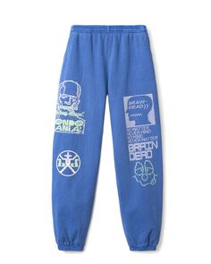 """Placement graphics on right and left legs, back pocket."""" color: Washed Blue material: cotton Made in USA Machine Wash: Cool Cute Sweatpants Outfit, Champion Sweatpants, Cool Outfits, Fashion Outfits, Comfy Pants, Aesthetic Clothes, Joggers, My Style, Motor Activities"""