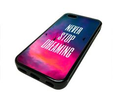Apple Iphone 5 or 5s Case Cover Never Stop Dreaming Quote Design Black Rubber Silicone Teen Gift Vintage Hipster Fashion Design Art Print Cell Phone Accessories MonoThings,http://www.amazon.com/dp/B00GV19CEM/ref=cm_sw_r_pi_dp_iTzKsb1PQ5ZBFD4N