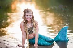 Mermaid | Girl Costumes | The Little Mermaid | Child Model | Modeling | Costume | Sailing | Fairy Tale | Fairytale | Ariel | Treasure Chest | Hair | Make-up | Water | Lake | Nautical | Portrait Poses | Photo Idea | Photography | Cute Kid Pic | Posing Ideas | Kids | Children | Child | ~Woodstock, Georgia Photographer close to Atlanta | Dare to Be Different Photography~