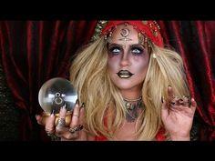 Creepy Halloween Costumes, Cute Halloween Makeup, Halloween Inspo, Halloween Looks, Pirate Halloween, Halloween Season, Halloween Outfits, Fortune Teller Costume, Fortune Teller Makeup