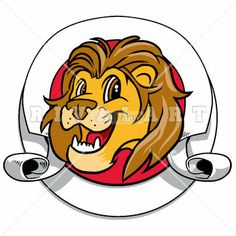 Mascot Clipart Image of A Nice Lions Mascot Head Graphic