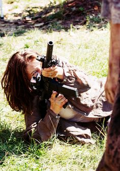 "Maggie ""Start to Finish"" Walking Dead Season 6, Walking Dead Zombies, Walking Dead Cast, Fear The Walking Dead, Maggie Greene, Daryl Dixon, Best Shows Ever, Actors, Guns"